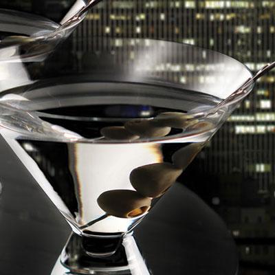 Cashs Crystal Grand Cru Stemless Martini Glasses, Pair