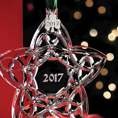 Cashs Crystal Celtic Trinity Star 2017 Ornament