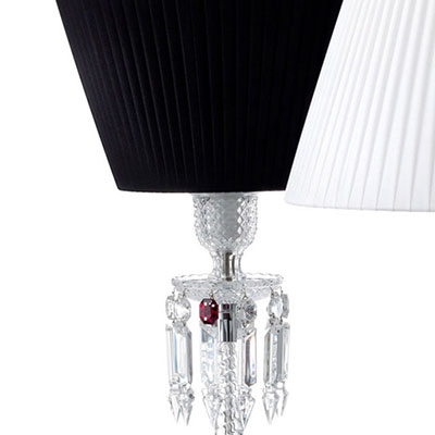 Baccarat Torch Lamp With Black Shade By Arik Levy