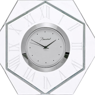 Baccarat Harcourt Abysse Clock, Large