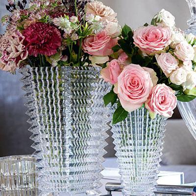 Baccarat Eye Rectangular Small Vase, Clear