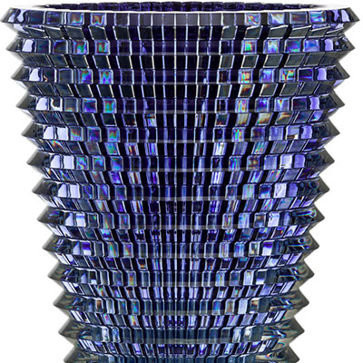 Baccarat Eye XL Oval Vase, Blue