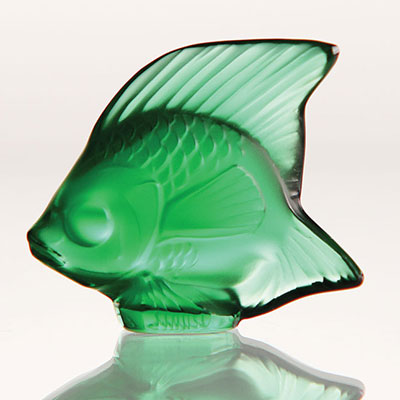 Lalique Emerald Fish Sculpture