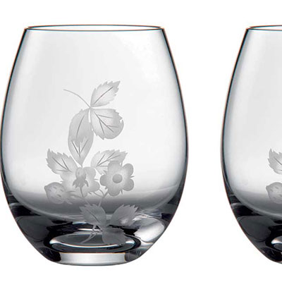 Wedgwood Wild Strawberry Al Fresco Glass Tumbler, Pair