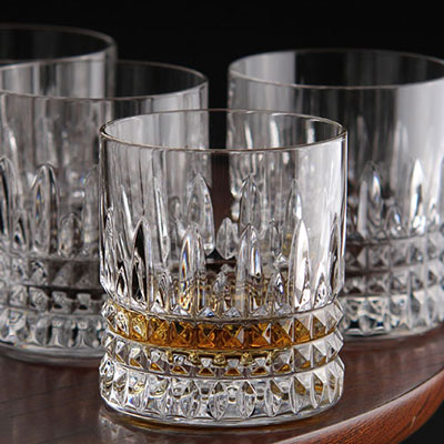 Waterford Lismore Diamond Straight Sided Whiskey Tumbler, Set of Four