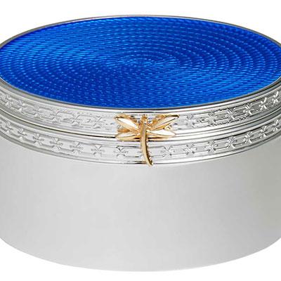 Vera Wang Wedgwood Treasures With Love Blue Dragonfly Treasure Box