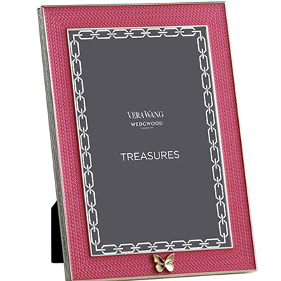 Vera Wang Wedgwood Treasures With Love Pink Butterfly 4x6 Frame