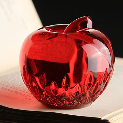Waterford Lismore Red Apple Paperweight