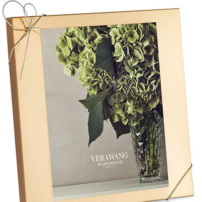 """Vera Wang Wedgwood Love Knots Gold 8x10"""" Picture Frame"""