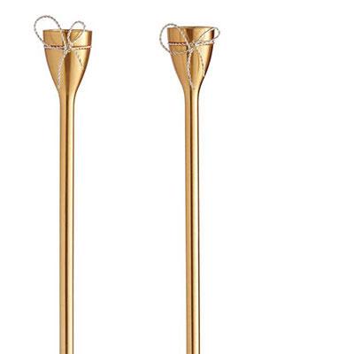 Vera Wang Wedgwood Love Knots Gold Taper Candle Holder, Pair