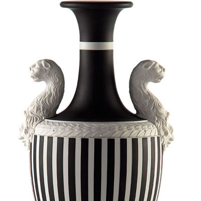 Wedgwood Panther Vase Black, White and Pink, Limited Edition of 25