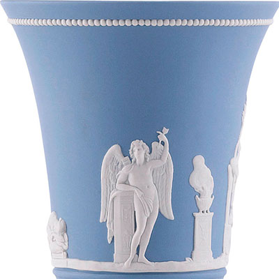 "Wedgwood Prestige Cupid and Psyche Pale Blue 7 1/2"" Vase, Limited Edition of 80"