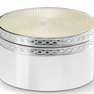 Vera Wang Wedgwood With Love Nouveau Covered Box, Pearl
