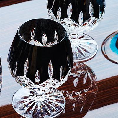 Waterford Lismore Black Brandy, Pair