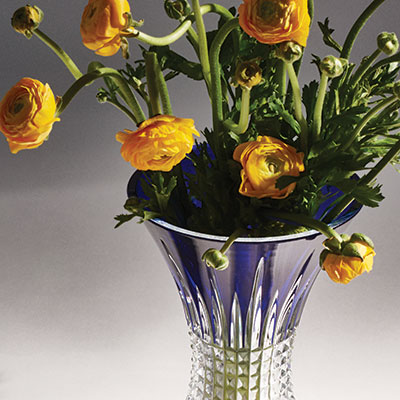 "Waterford Lismore Diamond Cobalt 8"" Vase"