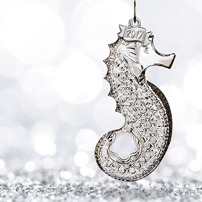 Waterford 2017 Seahorse Ornament