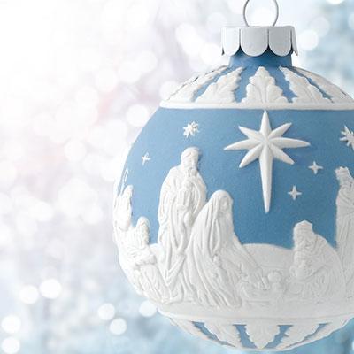 Wedgwood 2017 Nativity Blue Ornament