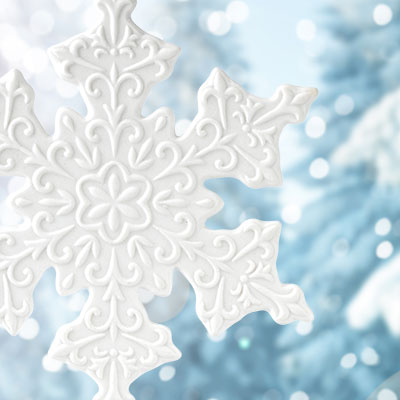 Wedgwood 2017 Snowflake White Ornament