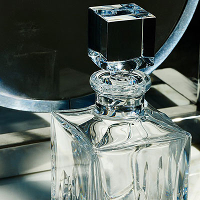Waterford Lismore Black, Square Decanter, Clear