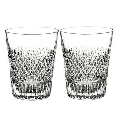 Waterford Diamond Line Shot Glass, Pair