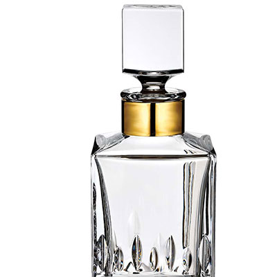 Waterford Lismore Revolution Gold Square Whiskey Decanter