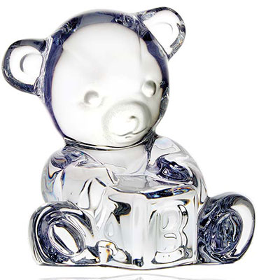 Waterford Giftology Baby Bear on Block
