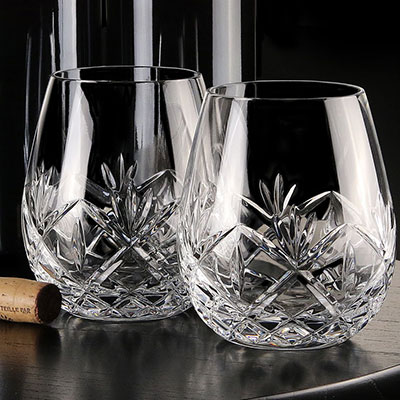 Waterford Huntley Stemless Red Wine Glasses, Pair