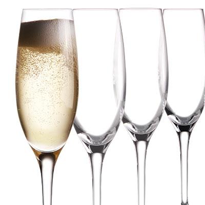 Cashs Crystal Wine Cru Champagne Flutes, Set of 4