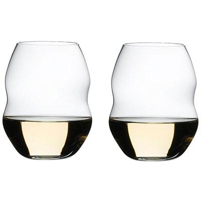Riedel Swirl White Wine Glasses, Pair