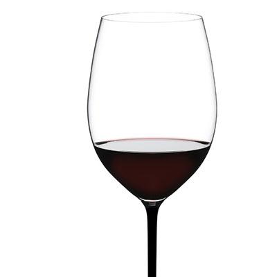 Riedel Fatto A Mano Cabernet, Merlot Glass, Black