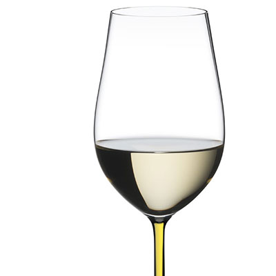 Riedel Fatto A Mano Riesling, Zinfandel Glass, Yellow