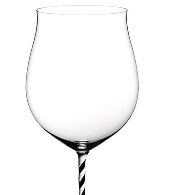 Riedel Fatto A Mano Burgundy Grand Cru, Black and White Twist