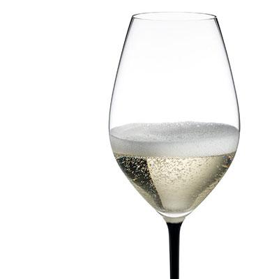 Riedel Fatto A Mano Champagne Wine Glass, Black