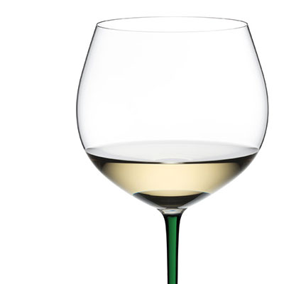 Riedel Fatto A Mano Oaked Chardonnay Glass, Green