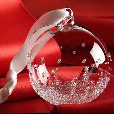 Swarovski 2017 Christmas Ball Ornament, Small