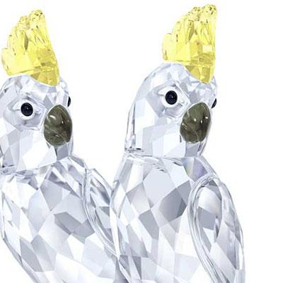 Swarovski Cockatoos Pair