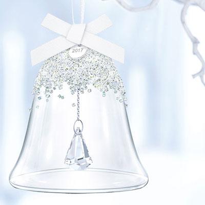 Swarovski 2017 Annual Christmas Bell Ornament