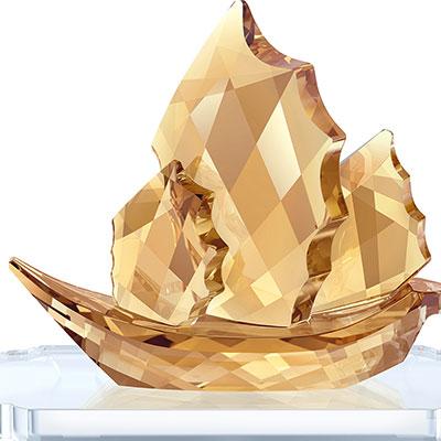Swarovski Sailing Junk Boat, Golden Shine