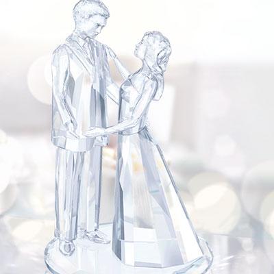 Swarovski Wedding Love Couple Sculpture