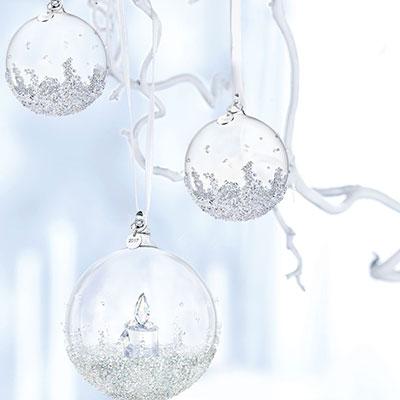 Swarovski 2017 Annual Christmas Ball Ornament Set