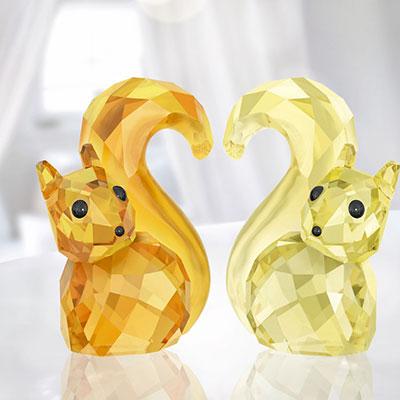 Swarovski Lovlots Squirrels In Love Bert and Berta