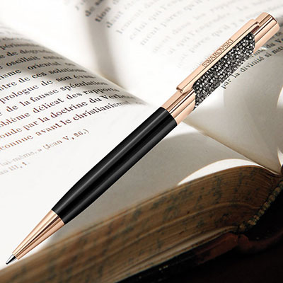 Swarovski Eclipse Ballpoint Pen, Rose Gold and Black