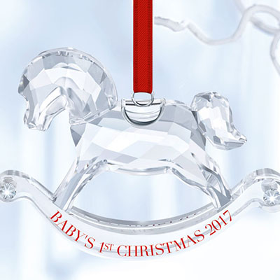 Swarovski 2017 Baby's 1st Christmas Ornament