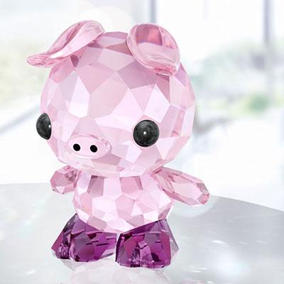 Swarovski Lovlots Zodiac Determined Pig