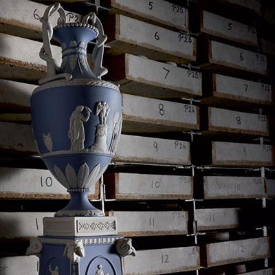 Wedgwood China and Bentley Blues Snake Handled Vase