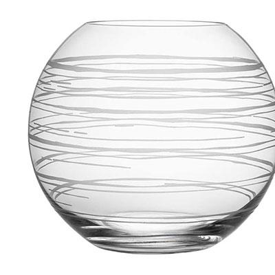 Orrefors Graphic Round Vase, Large