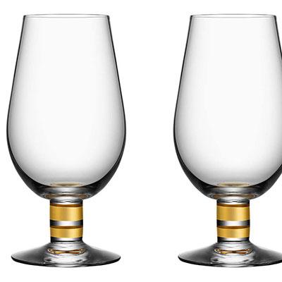 Orrefors Morberg Exclusive Beer Glass, Pair