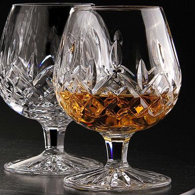 Waterford Lismore Large Brandy, Pair