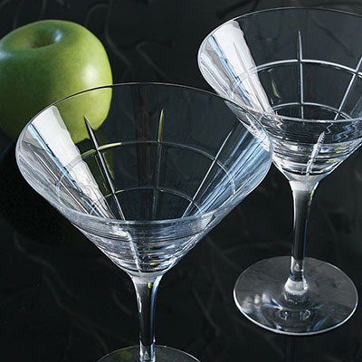 Orrefors Street Martini, Pair