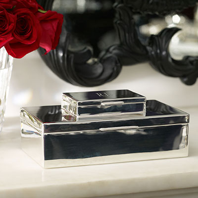 Ralph Lauren Beckbury Stacked Box, Silver
